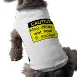 Piso resbaladizo camiseta de perrito