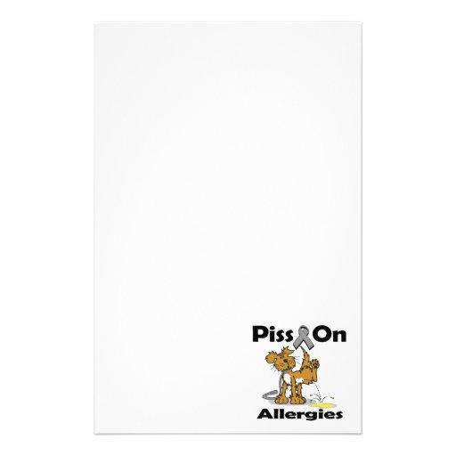 Piss en alergias papelería de diseño