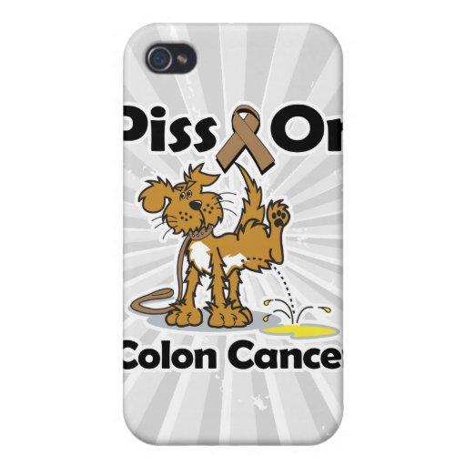 Piss en cáncer de colon iPhone 4 cárcasa