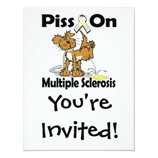 "Piss en esclerosis múltiple invitación 4.25"" x 5.5"""