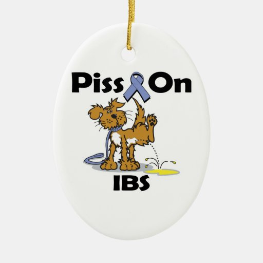 Piss en IBS Adorno Navideño Ovalado De Cerámica