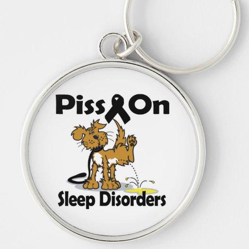 Piss en trastornos del sueño llavero personalizado