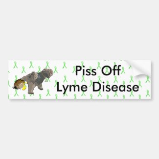 Piss Off Lyme Disease, Dog Peeing on a Tick Bumper