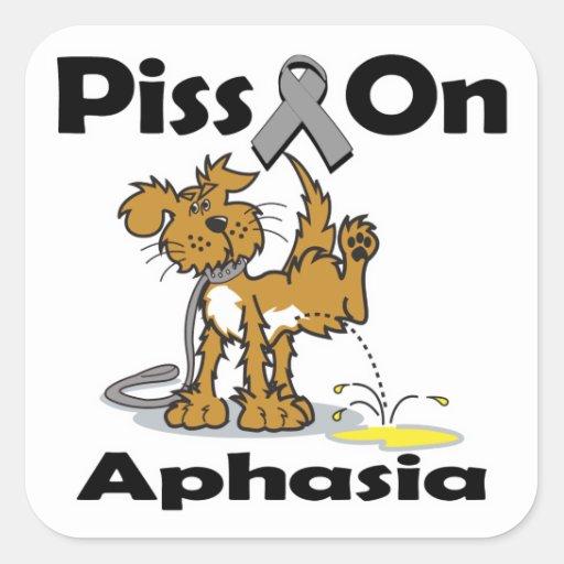 Piss On Aphasia Sticker