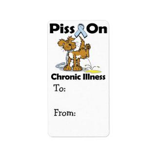 Piss On Chronic Illness Label