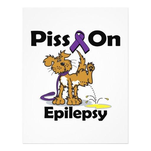 """Piss On Epilepsy (purple) 8.5"""" X 11"""" Flyer"""