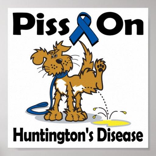 Piss On Huntington's Disease Poster