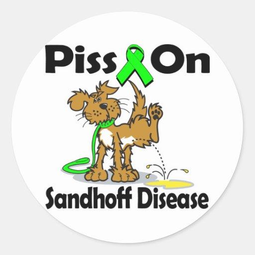 Piss On Sandhoff Disease Round Stickers