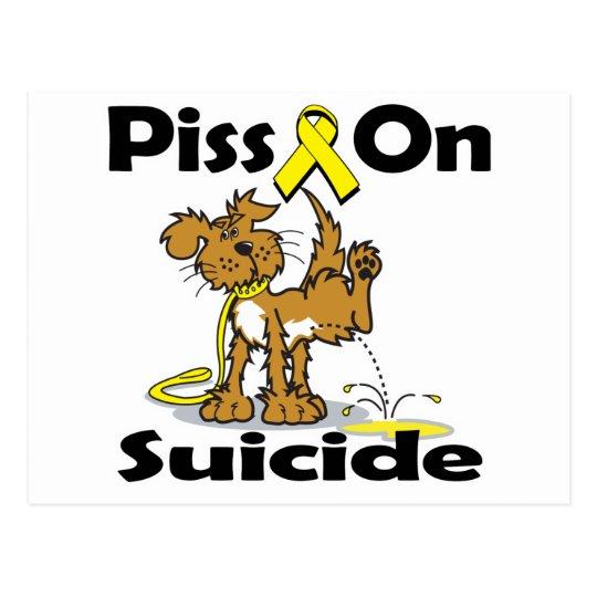 Piss On Suicide Postcard