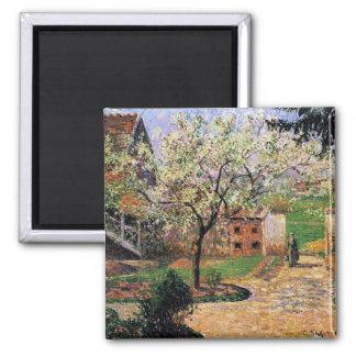 Pissaro: Flowering Plum Tree by Camille Pissaro Magnet