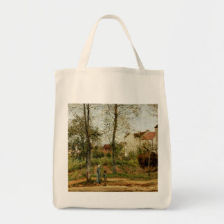 Pissaro Painting on Grocery Tote Bag
