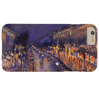 Pissarro Boulevard Montmartre At Night Vintage Art Barely There iPhone 6 Plus Case