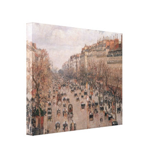 Pissarro Boulevard Montmartre Wrapped Canvas