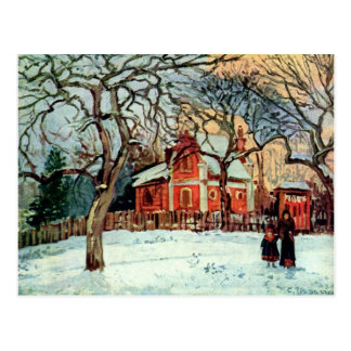 Pissarro: Chestnut Trees, Louveciennes, Winter Postcard