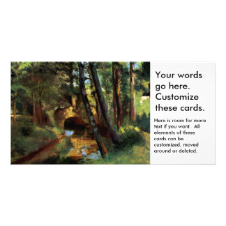 Pissarro landscapes bridge Pontoise France art Card