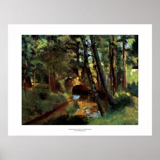 Pissarro painting small bridge Pontoise France art Poster