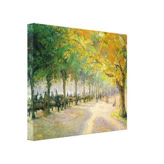Pissarro's 'Hyde Park' Stretched Canvas Prints