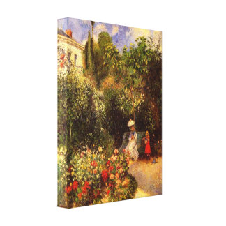 "Pissarro's ""The Garden at Pontoise"" Stretched Canvas Prints"
