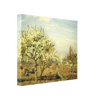 """Pissarro's """"The Orchard"""" Canvas Print"""