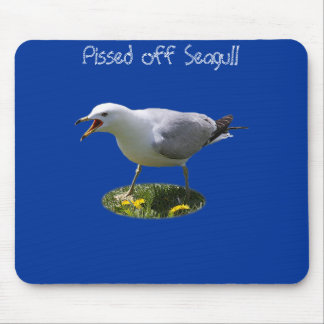 Pissed off Seagull Mouse Pad