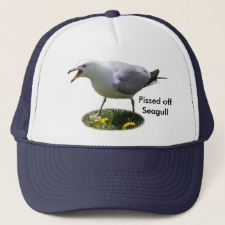 Pissed Off Seagull Trucker Hat