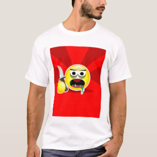 pissed off smiley T - Shirt - Brawling Smiley red