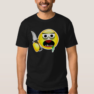 pissed off smiley T - Shirt - Brawling Smiley whit