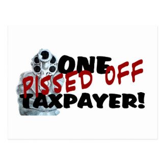 PISSED OFF TAXPAYER POSTCARDS