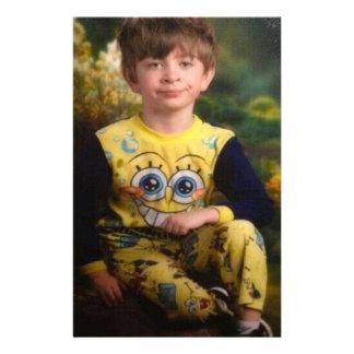Pissed Pajama Kid Personalized Stationery