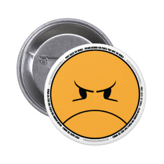 PISSYHATESTHEWORLD 001b (ON LIGHT BACKGROUND) 2 Inch Round Button