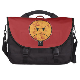 PISSYHATESTHEWORLD (DISTRESSED ON RED) LAPTOP BAGS