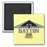Pista 24 - DÍA de Dayton Ohio Imán Cuadrado
