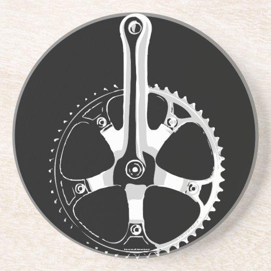 Pista Bicycle Crankset - white on black Coaster