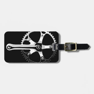 Pista Bicycle Crankset - white on black Tags For Luggage