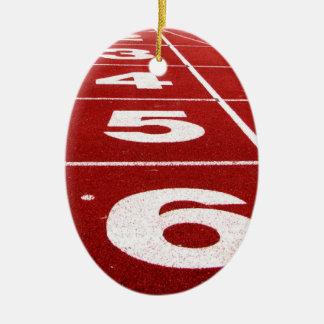 Pista corriente ornaments para arbol de navidad