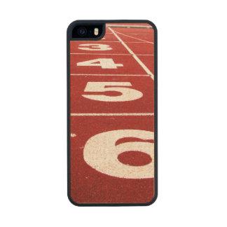 Pista corriente funda de arce carved® para iPhone 5 slim