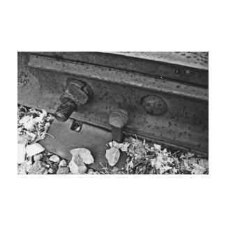 Pista de ferrocarril impresión en lienzo