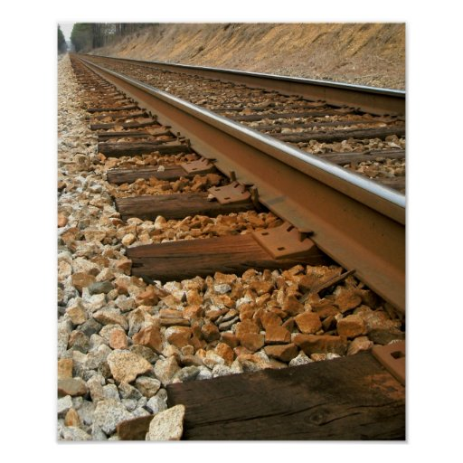 Pista de ferrocarril impresiones