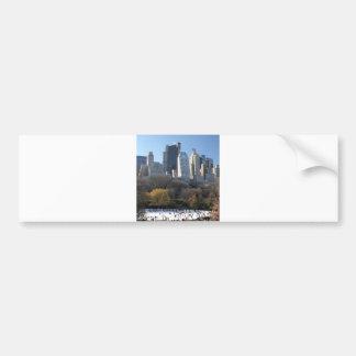 Pista de hielo del Central Park Pegatina Para Auto