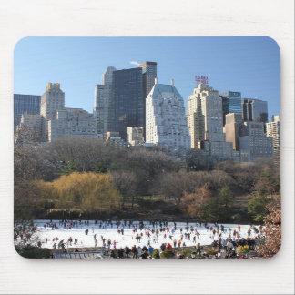 Pista de hielo del Central Park Alfombrilla De Ratones