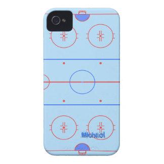 Pista de hielo del hockey iPhone 4 carcasa