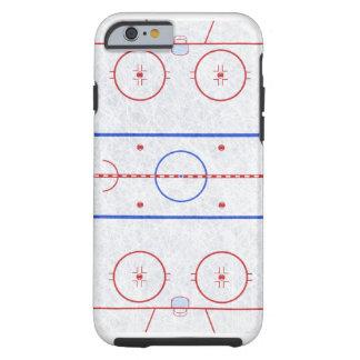 Pista de hockey sobre hielo funda resistente iPhone 6
