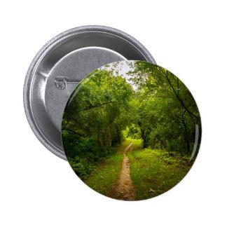 Pista de senderismo a través de las maderas pin redondo de 2 pulgadas