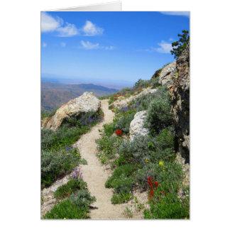 Pista de senderismo de la montaña de Idaho Tarjeta De Felicitación