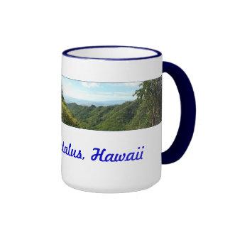 Pista de senderismo hawaiana tazas de café