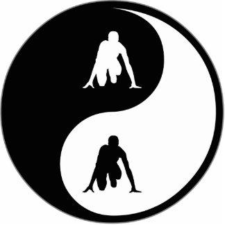 Pista de Yin Yang Esculturas Fotograficas