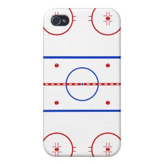 Pista del hockey iPhone 4/4S fundas