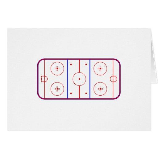 Pista del hockey tarjeta de felicitación