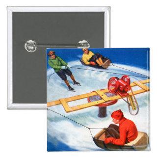 Pista del patinaje del niño motorizado kitsch retr pin