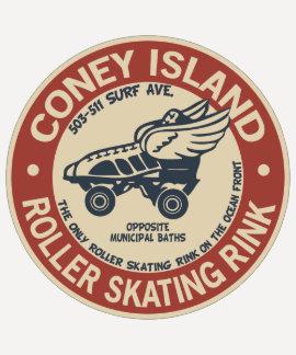 Pista del rodillo de Coney Island del vintage Playera